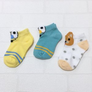 ボーイズ ガールズ 男の子 女の子 キッズ 靴下 ソックス 韓国子供服 おしゃれ 可愛い 靴下3点SET G|olpemi