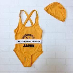 キッズ 水着 子供 女の子 おしゃれ ワンピース セット こども 韓国 インポート 120cm JANE スウィムウェア 669|olpemi