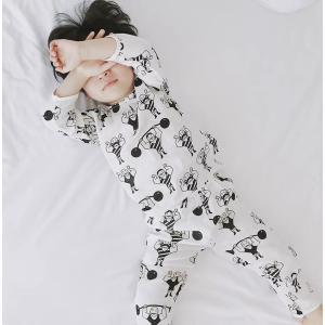 キッズ パジャマ ルームウェア セットアップ お家時間 男の子 韓国 韓国子供服 マッスルプリントパジャマ【R004】|olpemi