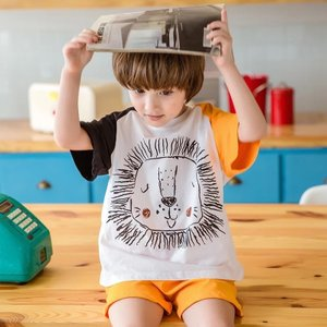キッズ 男の子 女の子 パジャマ 半袖 ルームウェア 夏服 薄手 100 110 120 130リラックスルームウェア【R021】|olpemi