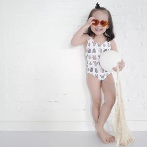 キッズ 水着 子供 女の子 ジュニア ワンピース こども インポート 韓国 80 90 サボテンデザインスウィムウェア S021|olpemi