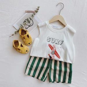 男の子 女の子 ボーイズ ガールズ キッズ 子供服 こども服 夏服 ノースリーブ SURFノースリーブTEE ホワイト【T085】|olpemi