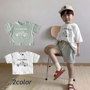 キッズ Tシャツ おしゃれ 韓国子供服 女の子 男の子 子ども服  90 100 110 120 130  フロントキャラクターTEE T126|olpemi