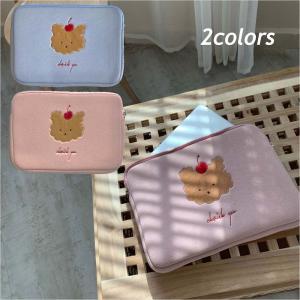 パソコンケース 韓国 かわいい 13インチ おしゃれ くま 13.3 ノート バッグ Mac 人気 PC ノートパソコン ベアーパソコンケース Z015 olpemi