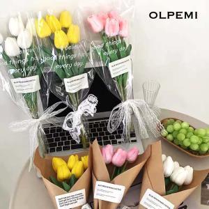 チューリップ 造花 5本セット インテリアフラワー 韓国インテリア フェイクフラワー 花束 ギフト 誕生日 プレゼント 贈り物 Z021 olpemi