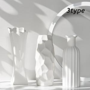 花瓶 おしゃれ 一輪挿し 韓国インテリア フラワーベース 雑貨 ドライフラワー ディスプレイ 北欧 クレーフラワーベース Z031|olpemi