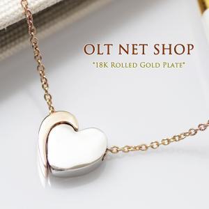 ネックレス 18金 レディース ハート K18 ピンクゴールド チェーン / セパレート / 18K 刻印 olt-netshop