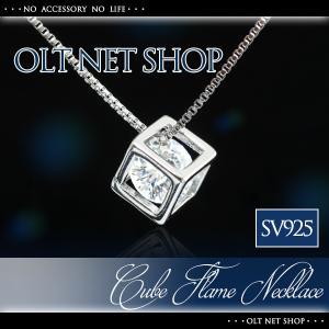 ■CZダイヤとSV925を使用した キューブフレームネックレスです。 ※「SV925」の刻印あり  ...