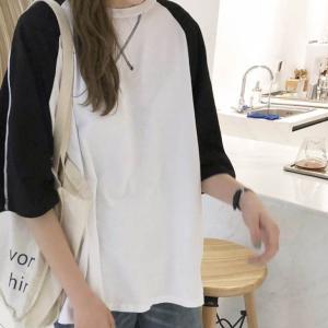 ラグランTシャツ レディース Tシャツ 半袖 トップス ラグラン ゆったり カジュアル かわいい プチプラ  おでかけ デート シンプル おしゃれ ママファッション 春|olulu