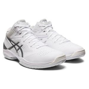 アシックス asics ゲルフープ V12(ワイド) NEW バスケットボールシューズ 1063A020-101(ホワイト/ピュア シルバー)|om-sports