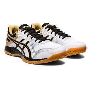 アシックス asics GEL-ROCKET(ゲルーロケット)9(ユニセックス)NEW バスケットボールシューズ 1073A014-100(ホワイト/ブラック)|om-sports