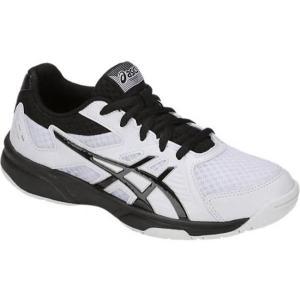 アシックス asics アップコート 3 GS NEW バレーボールシューズ 1074A005-102 (ホワイト/ブラック)|om-sports