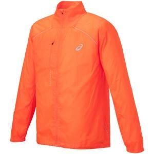 アシックス ライトーショウ ジャケット ウォームアップウエア 127827-0521(S オレンジ)|om-sports