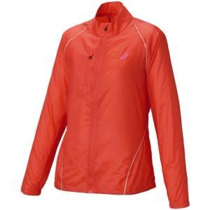 アシックス ライトーショウ ジャケット ウォームアップウエア 127851-0657(トマト)|om-sports