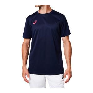 アシックス asics OP ショートスリーブトップ NEW メンズTシャツ 2031A664-401 (ピーコート/ブライトローズ )|om-sports