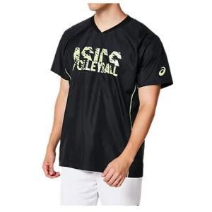 アシックス asics ハンソデウォームアップシャツ(ユニセックス) NEW バレーボールシャツ 2053A045-002 (Pブラック01)|om-sports