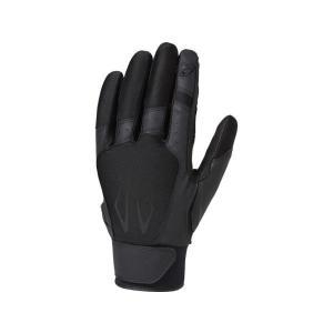 アシックス asics 守備用手袋(片手) 守備用インナーグラブ BEG370-9090(ブラック×ブラック)|om-sports