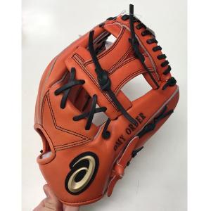 アシックス asics BOGLM3 野球 硬式 グローブ(グラブ) ゴールドステージ 内野手用 内野用 ブラック 右投げ用|om-sports