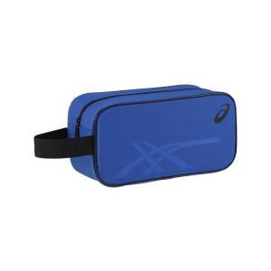 アシックス SHOEBAG(シューバッグ)M バッグ EBA619-4590 (ブルー×ブラック)|om-sports