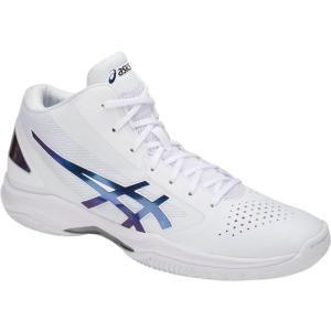 アシックス GELHOOP V10 ゲルフープV10 18SS バスケットボールシューズ TBF339-0154 (ホワイト/プリズムスペースブルー)|om-sports