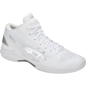 アシックス asics ゲルフープ V 10-ワイド(メンズ) バスケットボール TBF340-0193(ホワイト×シルバー)|om-sports