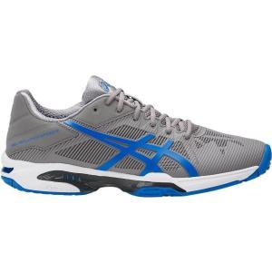 アシックス ゲル-ソリューション スピード 3 OC 17FW テニスシューズ TLL768-9642(グレー×エレクトリックブルー)|om-sports