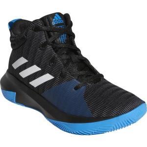 アディダス adidas プロ エレベート 2018K(ジュニア)NEW バスケットボールシューズ AC7624 (コアブラック/ランニングホワイト/ブライトブルー)|om-sports