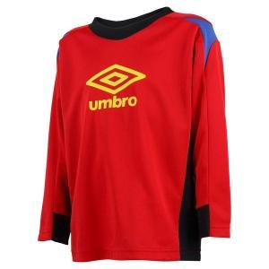アンブロ Kids プラクティスシャツL/Sシャツ シャツ UBA7633KL-SRED (Sレッド)|om-sports