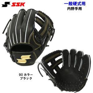 SSK エスエスケイ PEK84418-90 野球 硬式 グローブ プロエッジ 内野手用 ブラック 【黒】|om-sports