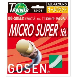 【硬式テニス】ゴーセン ミクロスーパー16L(OG-SHEEPシリーズ) テニス用ガット TS401W