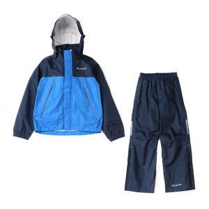 コロンビア Columbia シンプソンサンクチュアリユースレインスーツ レインウエア PY0072-425 (コロンビア ネイビー) ジュニア 子どもサイズ 上下セット|om-sports