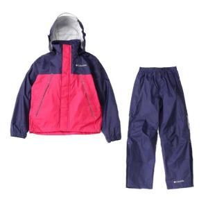 コロンビア Columbia シンプソンサンクチュアリユースレインスーツ レインウエア PY0072-527 (ディープ パープル) ジュニア 子どもサイズ 上下セット|om-sports