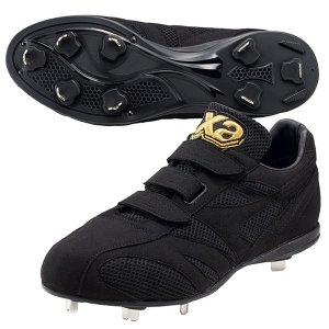 ザナックス XANAX BS317CL-9090 トラスト ベルト式樹脂底スパイク 野球 スパイク ベロクロ シューズ 靴|om-sports