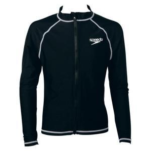 スピード Speedo ロングスリーブアクアシャツ(ジュニア/スクール)  ジュニアラッシュガード SD65J17-K (ブラック)|om-sports