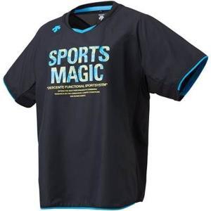 デサント DESCENTE DVWLJK30-BBL 半袖プラクティスピステシャツ バレーボール ウオームUPシャツ|om-sports