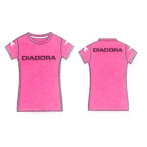 ディアドラ レディースマルチプラクティスシャツ 16FW ウエア AP6337-4399 (ピンクFL×ブラック)|om-sports