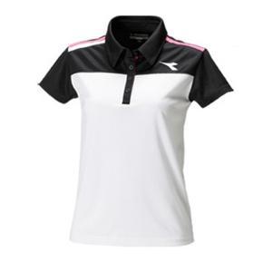 ディアドラ レディース ポロシャツ ゲームウエア DTL7344-9099 (ホワイト×ブラック)|om-sports