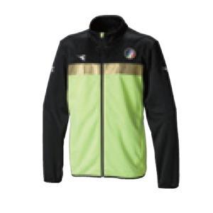 ディアドラ Diadora EVO ZIPジャケット 17FW メンズ ウオームアップウエア DTT7182-1599 (イエローFL×ブラック)|om-sports