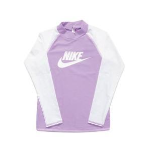 ナイキ Nike トドラー ロングスリーブ UV ラッシュガード ジュニア ラッシュガード 1981722-12(パープル)|om-sports