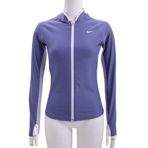 ナイキ Nike レディース UV F/Zラッシュガード レディース ラッシュガード 2983722-12(パープルスレート)|om-sports