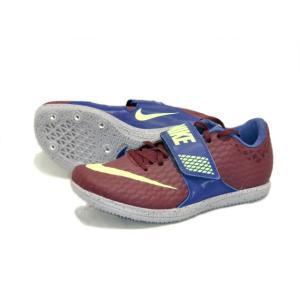 ナイキ Nike ナイキ ハイジャンプエリート 陸上スパイク 806561-600 (ボルドー/ライムブラスト) om-sports