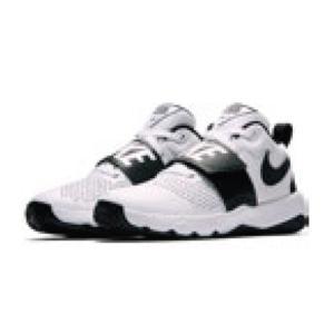 ナイキ Nike ジュニア、キッズ ナイキ チームハッスルD 8 GS 18SP バスケットボールシューズ 881941-100 (ホワイト/ブラック)|om-sports