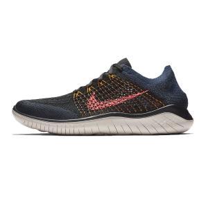 ナイキ Nike ナイキ フリーラン フライニット 2018 メンズランニングシューズ 942838-068 (ブラック/オレンジビール/カレッジネイビー/フラッシュクリムゾン)|om-sports