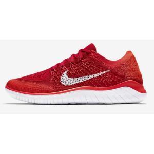 ナイキ Nike フリーラン フライニット 18SU メンズランニングシューズ 942838-601 (ユニバーシティレッド/ブライトクリムゾン/ホワイト)|om-sports
