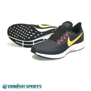 ナイキ Nike エアズーム ペガサス35 FA18 メンズランニングシューズ 942851-008 (グリディロン/レーザーオレンジ)|om-sports