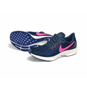 ナイキ Nike ウイメンズ エアズームペガサス35 18FA レディースランニングシューズ 942855-401 (オブシディアン/ピンクブラスト/ディープロイヤルブルー)|om-sports
