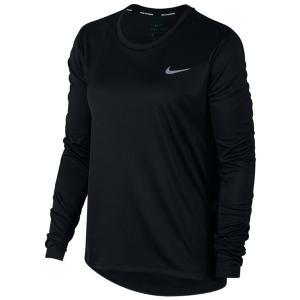 0b03e8f31cecea ナイキ Nike ウイメンズ マイラーL/Sトップ NEW レディースランニングTOP AJ8129-010 (ブラック/(リフレクトシルバー))