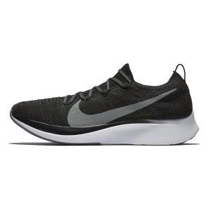 ナイキ Nike ズームフライ フライニット メンズランニングシューズ AR4561−001 (ブラック/ホワイト/ガンスモーク)|om-sports