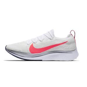 ナイキ Nike ナイキ ズーム フライ フライニット メンズランニングシューズ【返品交換不可商品】 AR4561-164 (ホワイト/フラッシュクリムゾン/メタリック)|om-sports