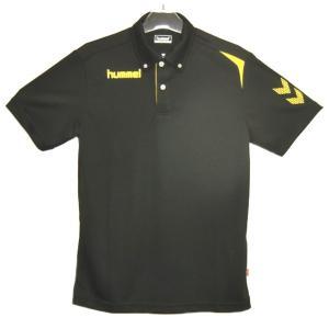ヒュンメル 半袖ポロシャツ(ボタンダウン) 17SS  ポロシャツ HAY2073-90 (ブラック)|om-sports